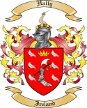 Hally Family Crest from Ireland