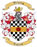 Halpeny Family Crest from England