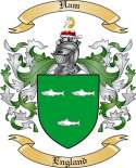 Ham Family Crest from England