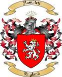 Hamblett Family Coat of Arms from England