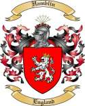 Hamblin Family Crest from England