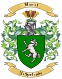 Hamel Family Crest from Netherlands