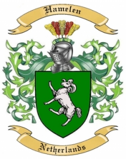 Hamelen Family Coat of Arms from Netherlands