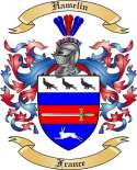 Hamelin Family Crest from France2