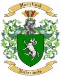 Hamelinck Family Crest from Netherlands