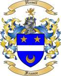 Hamil Family Coat of Arms from France