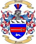 Hamill Family Crest from France2