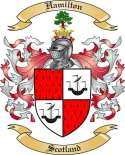 Hamilton Family Crest from Scotland