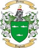 Hamm Family Coat of Arms from England