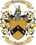 Hammentree Family Coat of Arms from England