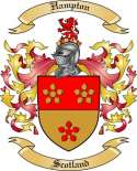 Hampton Family Coat of Arms from Scotland