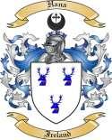Hana Family Crest from Ireland
