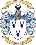 Hana Family Crest from Scotland