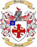Hanahoe Family Crest from Ireland