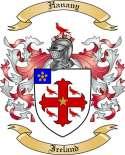 Hanany Family Crest from Ireland