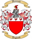 Hancock Family Coat of Arms from England