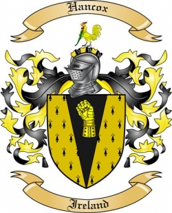 Hancox Family Coat of Arms from Ireland
