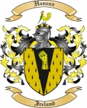 Hancox Family Crest from Ireland