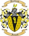 Handcock Family Crest from Ireland