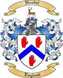 Handel Family Crest from England