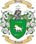 Hanily Family Coat of Arms from Ireland