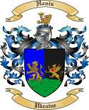 Hanis Family Crest from Ukraine