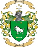 Hanlay Family Coat of Arms from Ireland