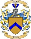 Hanna Family Coat of Arms from France