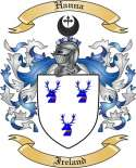 Hanna Family Coat of Arms from Ireland