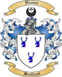 Hanna Family Coat of Arms from Scotland