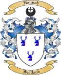 Hannah Family Coat of Arms from Scotland