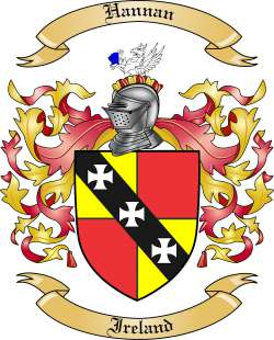 hannan family crest from ireland by the tree maker