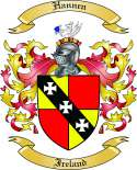 Hannen Family Coat of Arms from Ireland