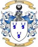 Hanney Family Crest from Scotland