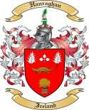 Hanraghan Family Crest from Ireland