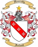 Hanratty Family Crest from Ireland