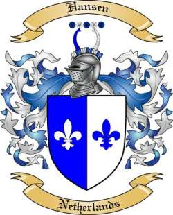 Hansen Family Crest from Netherlands