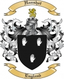 Hanshot Family Crest from England