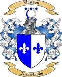 Hanson Family Crest from Netherlands