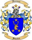 Hanson Family Crest from Sweden