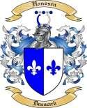 Hanssen Family Crest from Denmark