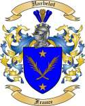 Harbelot Family Crest from France