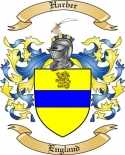 Harber Family Crest from England2
