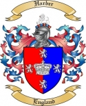 Harber Family Crest from England