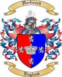 Harboard Family Crest from England