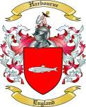 Harbourne Family Crest from England