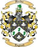 Hardee Family Crest from England