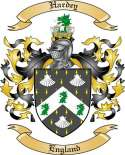Hardey Family Crest from England