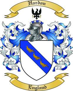 Hardon Family Crest from England