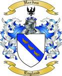 Hardon Family Crest from England